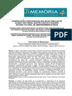 20130730_AGUA E PATRIMONIO CULTURAL - Artigo Sobre Restauracao de Bicas Publicas de Olinda(1)