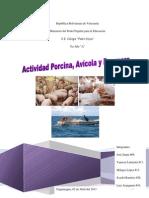 Actividad Porcina, Avicola y Pesquera
