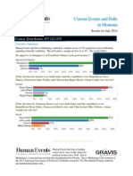 Human Events Gravis Marketing Montana Poll Results (July 2014)