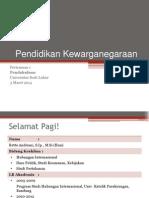 Pendidikan Kewarganegaraan 1 - RA - 1Mar2014