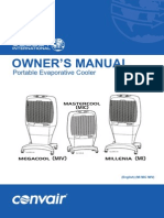 Convair Master Cool Manual