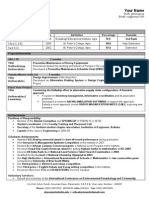 Fresher Format Sample Resume (1)