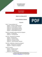 211 Direito Das Obrigações II - Programa 2012.13