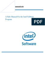 Intel Style Manual