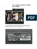 A laptop power supply repaired. Model Toshiba SADP-65KBA.doc