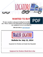 Wanted to Buy Bulletin - July 23, 2014