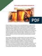 Tecnología en Plantas Cerveceras Nacionales