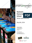 Nackawic Elementary School - Waste Audit Summary From May 8th, 2014