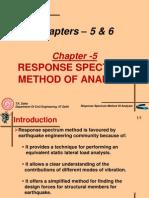 Response Spectrum Method of Analysis