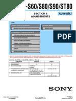 SONY DSC-S60, S80, S90, ST80 SECTION 6 ADJUSTMENTS AUTO-ADJ (9-876-869-53).pdf