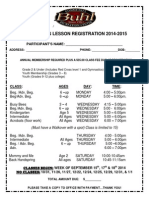 Gymnastics Registration 2014