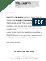 Declaração de Insuficiência Econômica a. m Ferraz