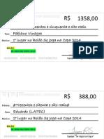 Cheques de Premiação Do Bolão