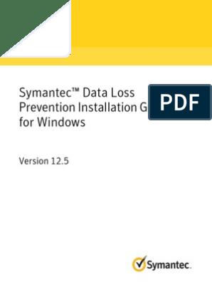 Symantec DLP 12 5 Install Guide Win | Public Key Certificate