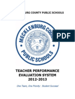 Teacher Evaluation Performance Standards and Indicators