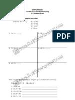 LSM Grade 3 Math 2nd Trim Exam SY 2009-2010