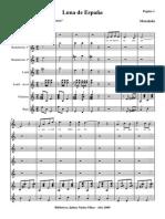 Luna de Espanya.orquesta e Instrumentos.solfeo y Cifra