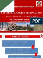 i Audiencia Publica Gore Ica 2013