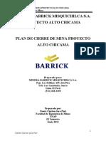 57964410 Alto Chicama Plan de Cierre de Minas