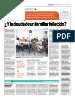 Y La Deuda de Un Familiar Fallecido_El Comercio 23-07-2014