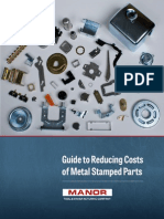 Guide to Reducing the Cost of Metal Stamped Parts