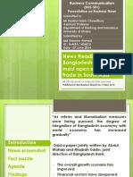 Business Communication Presentation on news headlines