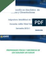Segunda Clase -Propiedades Físicas y Mecanicas Suelos
