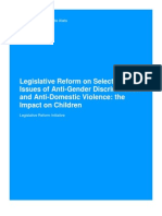 Legislative Reform on Selected Issues of Anti-Gender Discrimination and Anti-Domestic Violence--The Impact on Children