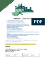 DENSI 2014 Collaborative Notes