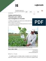 La Jornada- Anulan Autorización a Monsanto Para Cultivar Soya Transgénica en Yucatán
