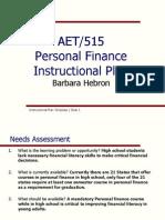 aet 515 personal finance instructional plan