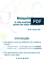 Bioquímica 1 - Introdução, Água e Sais Minerais