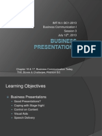 Business Communication - Business Presentations
