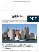 Threats of Violence and Death Against Doubletree Hilton in Detroit Over Men's Conference