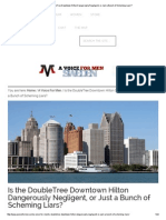 Is the DoubleTree Downtown Hilton Dangerously Negligent, Or Just a Bunch of Scheming Liars