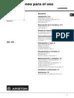 Ariston Manual Lavarropa