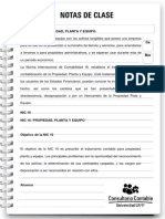 Nota de Clase 52. Propiedad Planta y Equipo
