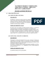 Especificaciones Técnicas Final Veredas de Adoquines