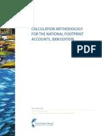 National Footprint Accounts Methodology 2008