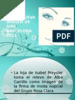 Tamara Falcó Nueva Imagen de Aire Barcelona 2013