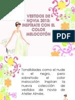 Vestidos de Novia 2013 Inspirate Con El Color Melocoton