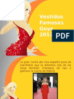 Vestidos Famosas Goya 2012