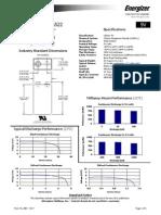 energizer 9v lithium la522 datasheet