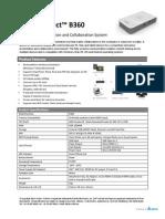 Vivitek NovoConnect B360 Datasheet