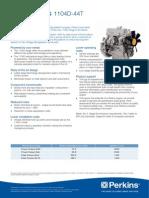 1104d-44t Industrial Pn1835 Perkins Especificaciones Tecnicas