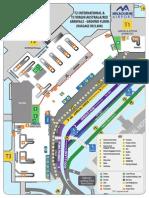 Mapa Aeroporto de Melbourne t2 and t3 (Ground Floor) Map