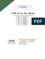 f1x03 Series Modem User Manual