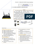 F7434 GPS+WCDMA WIFI ROUTER SPECIFICATION