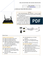 F7834 GPS+LTE&WCDMA WIFI ROUTER SPECIFICATION