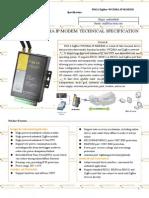 F8414 ZigBee+WCDMA IP MODEM TECHNICAL SPECIFICATION